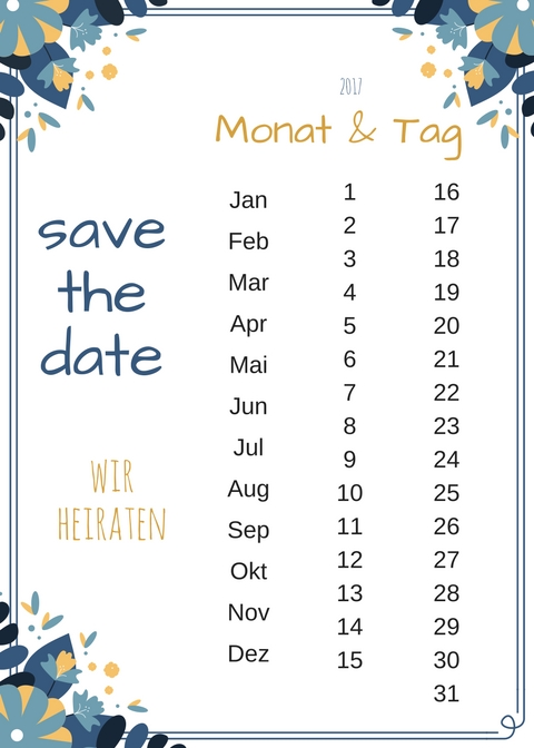 DIY Save The Date Karten – Freebie II