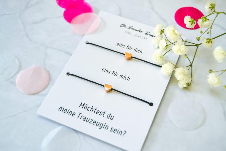 Oh Bracelet Berlin: Mit Liebe handgemacht für die beste Trauzeugin der Welt!