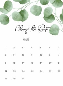 Change the Date_Eukalyptus